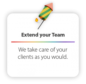 We take care of your clients as you would.