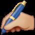 writing-hand_medium-light-skin-tone_270d-1f3fc_1f3fc